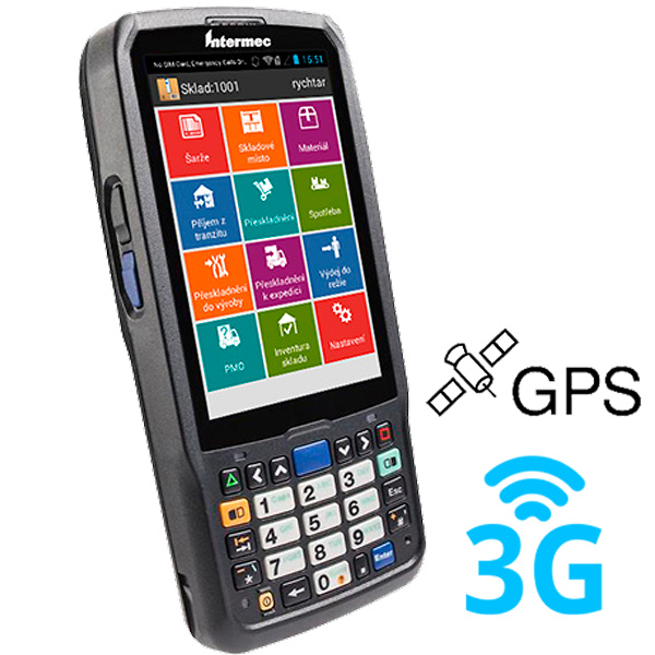 CN51, 2D, EA30, WLAN, BT, 3G, GPS, USB, NUM, ANDROID