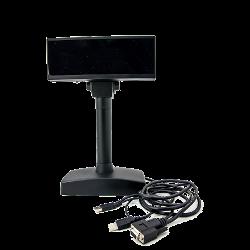 VISOR VFD 2X20 USB + RS232 NEGRO