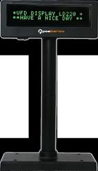 VISOR VFD 2X20  USB NEGRO