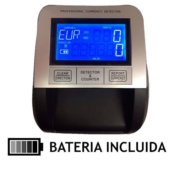 DETECTOR DE BILLETES FALSOS POS-330 + BATERIA