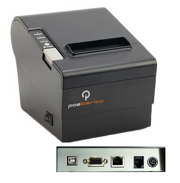 IMP. TERMICA P80 PLUS-USL USB/RS232/LAN NEGRA