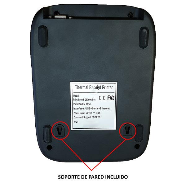 IMP. TERMICA P84 USL USB/RS232/LAN NEGRA