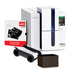 IMP. ETIQUETAS PRECIOS EVOLIS EDIKIO DUPLEX USB+ETH BLANCA KIT