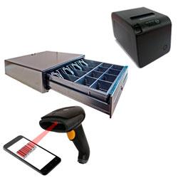 PACK IMPRESORA P83 + CAJON 410 + SCANNER LSA-1DU88 LASER USB NEGRO