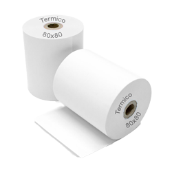 ROLLO PAPEL TERMICO 80 X 80 PACK 4 UNDIDADES